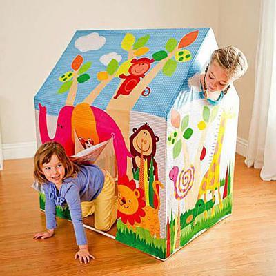 054-007 Детский игровой домик-палатка INTEX 45642, 95х75х107 см, от 3 до 6 лет