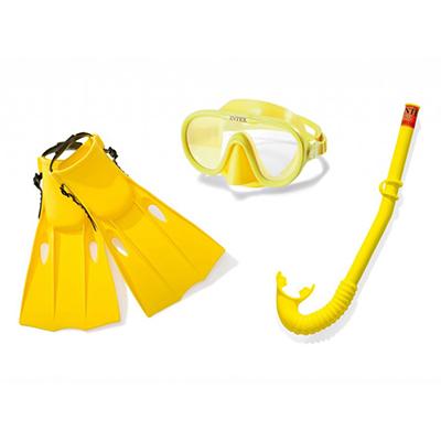 058-008 Набор для плавания INTEX 55648 (маска, трубка, ласты) от 14 лет