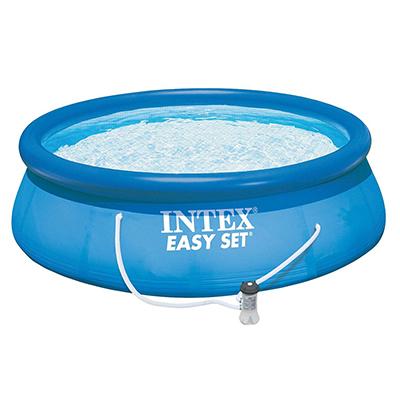 051-041 Бассейн, фильтр-насос, двд-диск, возраст от 6 лет, 457х84 см, INTEX Easy Set, 28158