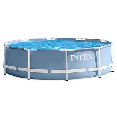 049-015 Бассейн каркасный призматический, фильтр-насос, возраст от 6 лет, 366х76 см, INTEX, 26712