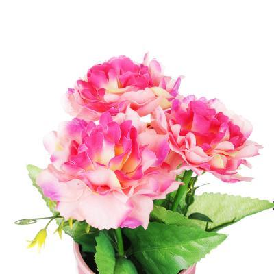 501-459 Цветок искусственный декоративный в горшке, 23,5х11х11 см, пластик, керамика, 3 цвета
