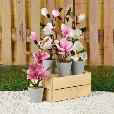 501-465 LADECOR Цветок искусственный декоративный в горшке, 40х10 см, пластик, керамика, 4 цвета