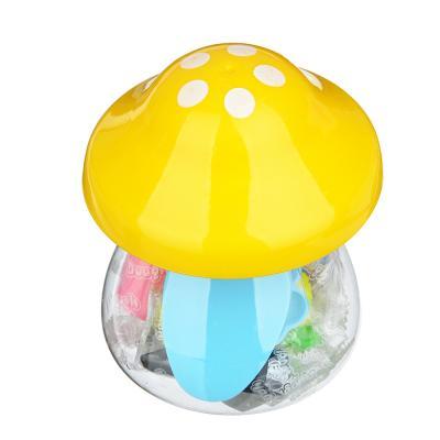 """289-139 ХОББИХИТ Тесто для лепки """"Грибочек"""", в наборе 7 цветов, 3 формы, тесто, пластик, 7х9,8х7см, 3 цвета"""