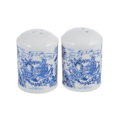 824-030 MILLIMI Гравюра Набор для соли и перца, 4x4х7см, керамика