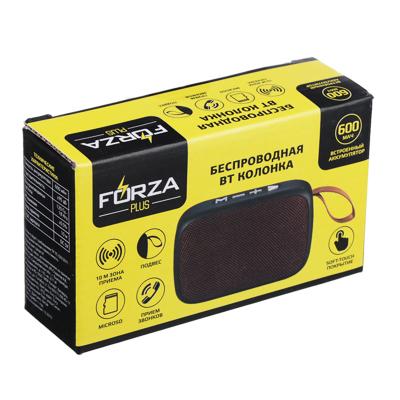 443-005 FORZA Аудиоколонка беспроводная, USB, MicroSD, AUX, матовое покрытие, ткань, пластик