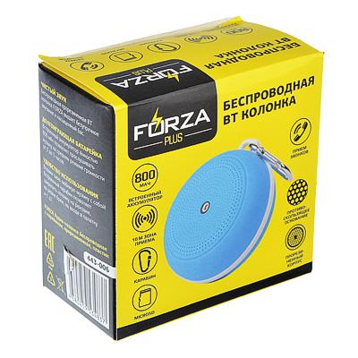 443-006 FORZA Аудио-колонка беспроводная с карабином, прорезиненная, пластик