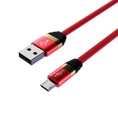 Кабель для зарядки Элегант Micro USB, 1м, 2А, тканевая оплётка, 4 цвета-3