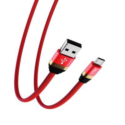 Кабель для зарядки Элегант Micro USB, 1м, 2А, тканевая оплётка, 4 цвета-4