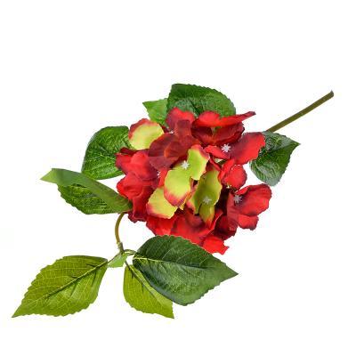 409-019 Цветок искусственный в виде гортензии, пластик, полиэстер, 35 см, 6 цветов