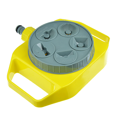 167-043 INBLOOM Разбрызгиватель многофункциональный, напольный 20х15,5, 5 режимов, пластик