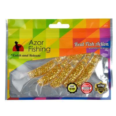 145-175 AZOR FISHING Приманка мягкая Trendex Minnow, силикон, 8см, 5шт. в уп, 3 цвета