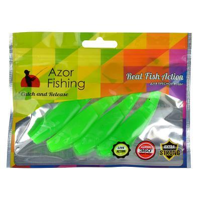 145-176 AZOR FISHING Приманка мягкая Trendex Minnow, силикон, 10см, 4шт. в уп, 3 цвета