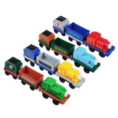 276-069 ИГРОЛЕНД Набор паровозиков с составами, движение, 12 предметов, пластик, 32х43,5х4см
