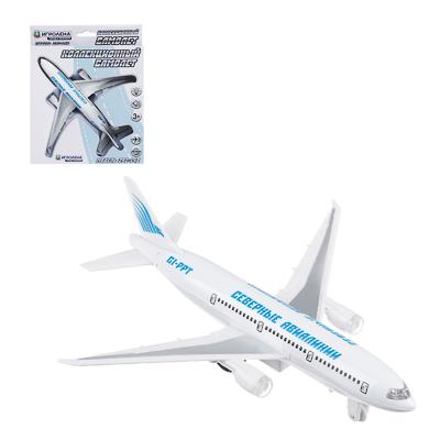 292-148 ИГРОЛЕНД Самолет инерционный, свет, звук, пластик, металл, 18,5х6х19см , 2 дизайна