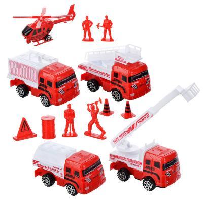 276-073 ИГРОЛЕНД Набор пожарной техники, 13 предметов, пластик, 38,5х6х28,5 см, 223-7727
