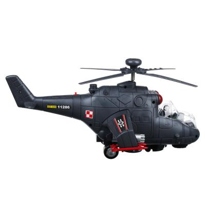 292-150 ИГРОЛЕНД Вертолет со свет.и звук.эффектами, функция движения, пластик, 40х9х12,5см, 2 дизайна,H9967