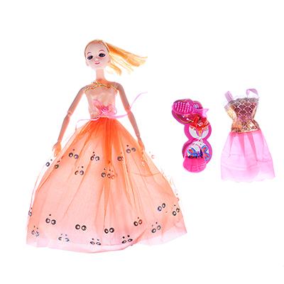 267-778 ИГРОЛЕНД Кукла шарнирная в бальном платье с аксессуарами, 30см, пластик, 21х33х4,8см