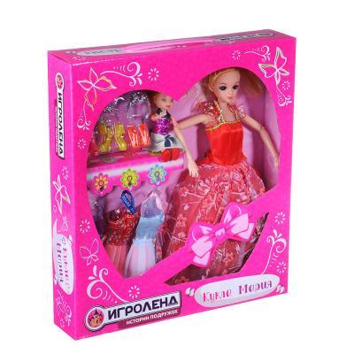 267-779 ИГРОЛЕНД Кукла шарнирн. в бальн. платье + мини-кукла и набор аксессуаров,30см,пластик,29х32х6см
