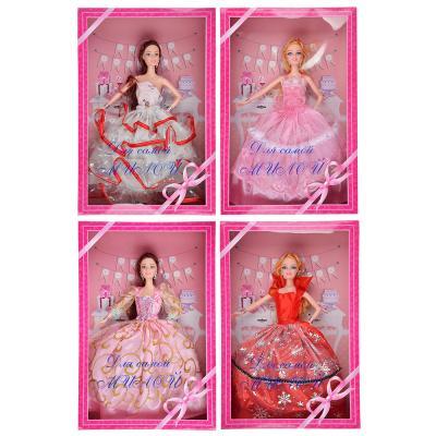 267-780 ИГРОЛЕНД Кукла в бальном платье (премиум), 30см, пластик, 23х34,5х7,5см, 4 дизайна