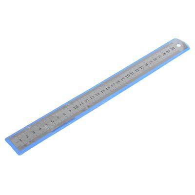 612-010 Линейка стальная 30 см, толщина 0,3 мм