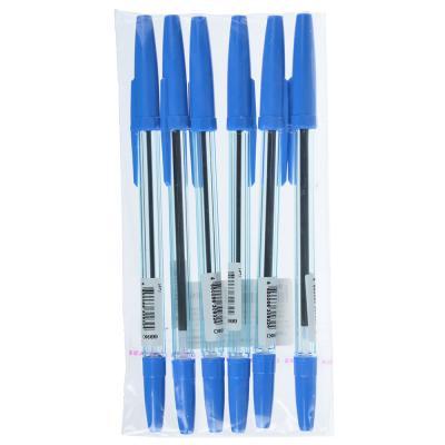 627-032 СТАММ Набор ручек шариковых 6шт, пластик, цвет синий, ОФ999, 566129