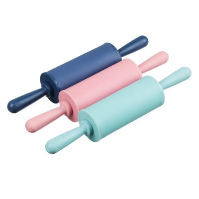 891-324 Скалка мини, 23х4 см, силикон/пластик, 4 цвета