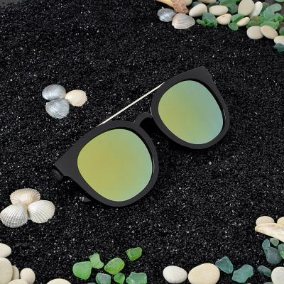 304-342 Очки солнцезащитные молодежные, пластик, металл, 14,5х5,5см, 2 цвета, ОС19-6