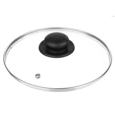 848-061 Крышка для сковороды d. 22 см, стеклянная, с  металическим ободком в сборе