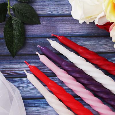 """508-567 Свеча винтовая """"Барокко-1"""", парафиновая, 24 см, 6 цветов, 13818101001"""