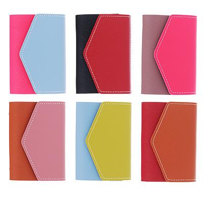 333-143 PAVO Визитница на 26 карт, ПУ, 10х7см, 4-6 цветов, ВК18-8