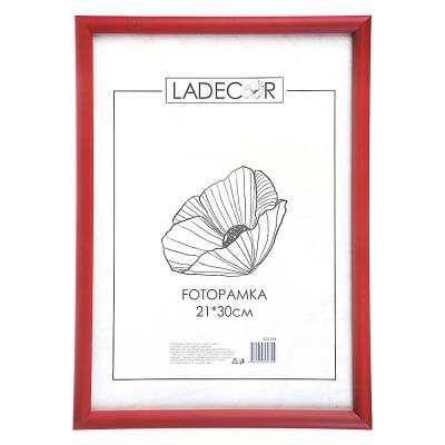 520-554 LADECOR Фоторамка 21х30см, пластик, стекло, 5 цветов