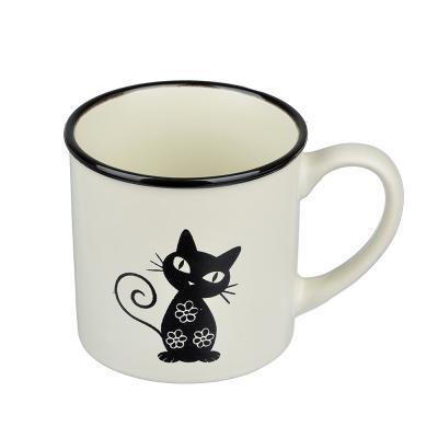 824-052 Черная кошка Кружка, 310мл, керамика, 4 цвета