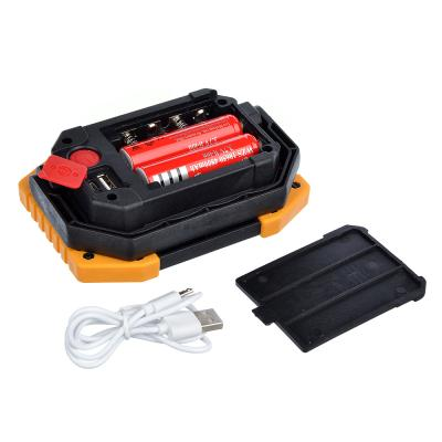 223-008 ЧИНГИСХАН Фонарь кемпинговый, 1COB, 30Вт. 4xAA или 2x18650, пластик, металл, 2x1800мАч, USB порт