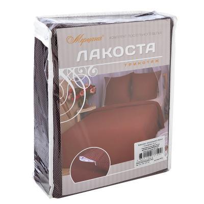 """421-225 Комплект постельного белья евро (4 пр), """"Лакоста"""", хлопок 95%, ПЭ 5%"""