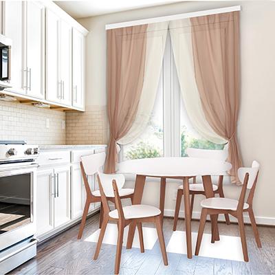 """499-034 Комплект штор для кухни, ПЭ, 250х160см, """"Лидия"""" 5 цветов"""