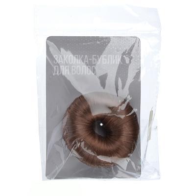 323-247 Заколка-бублик для волос, нейлон, 7,5см, 3 цвета