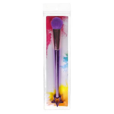 357-181 Кисть для хайлайтера, пластик, металл, ворс иск.мех, 20 см