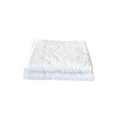 484-883 Полотенце махровое жаккард 420гр. 70х130см Ринг 16/1 белый ПГ-11079