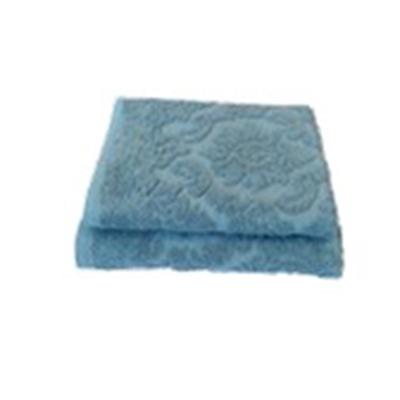 489-158 Полотенце махровое жаккард 420гр. 50x90см Ринг 16/1 синий ПГ-11082