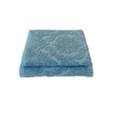 484-885 Полотенце махровое жаккард 420гр. 70х130см Ринг 16/1 синий ПГ-11083