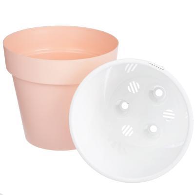 164-189 Горшок цветочный Протея 1,4л с вкладкой, розовый, пластик