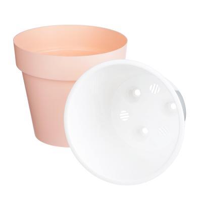 164-194 Горшок цветочный Протея 2,3л с вкладкой, розовый, пластик