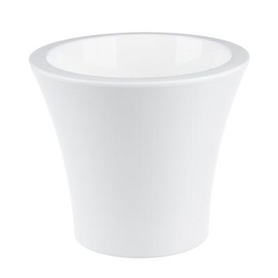 164-196 Горшок цветочный с вкладкой, пластик, 1,3 л, белый, Сити