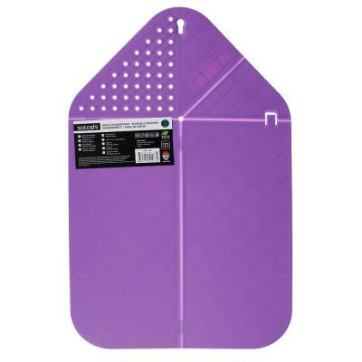 852-118 Доска разделочная пластиковая SATOSHI Малибу, 42,6х27,3х0,5 см, с отверстиями для слива