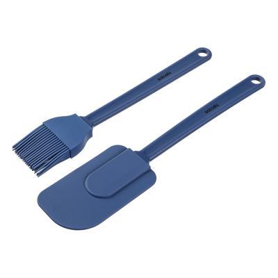 """884-455 Кулинарный набор: кисточка кондитерская, лопатка, силикон, SATOSHI """"Малибу"""""""