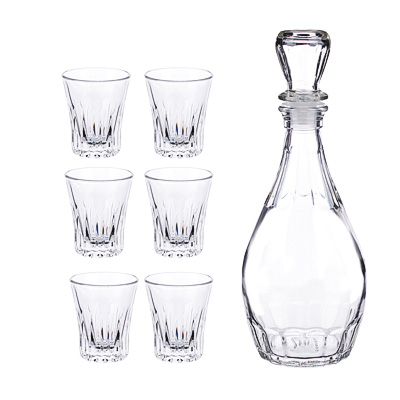 878-386 Набор для вина 7пр (графин 500мл, 6 стопок 50мл), стекло, Дионис