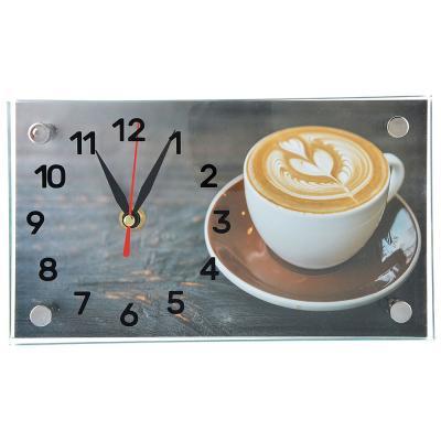 529-172 Часы настольные прямоугольной формы, стекло, 13х23см,  3 дизайна ГЦ арт 3