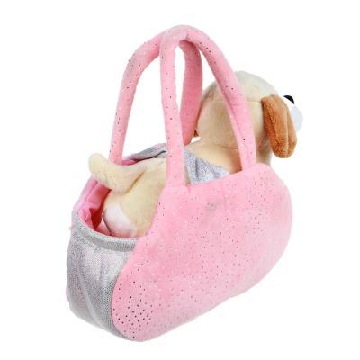 264-208 ИГРОЛЕНД Мягкая игрушка в сумке, текстильные материалы, 18х27х13см, 3 дизайна