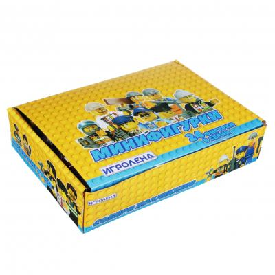 274-123 Мини-фигурка в колбе, пластик, 2,5х4х2,5см, 24 дизайна