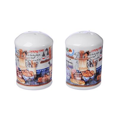 824-054 MILLIMI Хлеб Набор для соли и перца, 4x4х7см, керамика